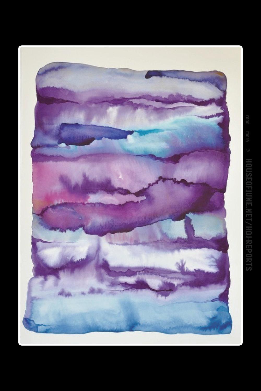 Idoline Duke   (Watercolor on Paper)  Violet Strata, 2017