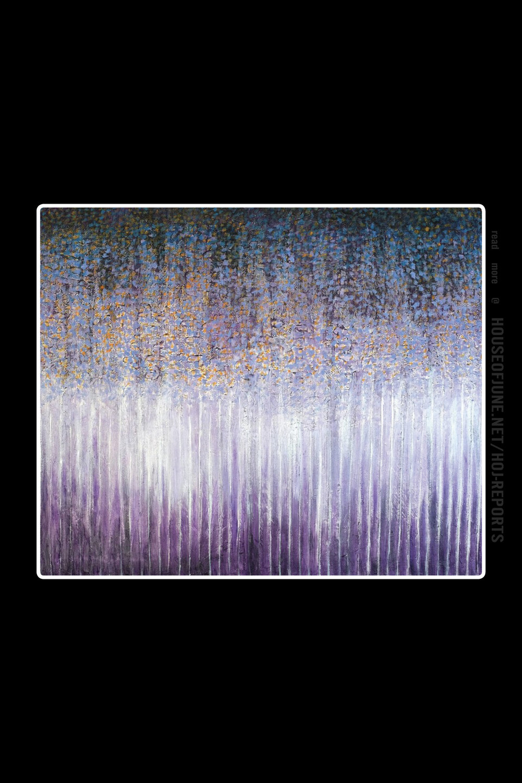 Hyun Ae Kang   (Mixed Media)  Violet Forest, 2015
