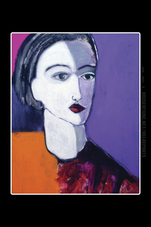 James Koskinas   (Acylic on Canvas)  Girl in Purple Field