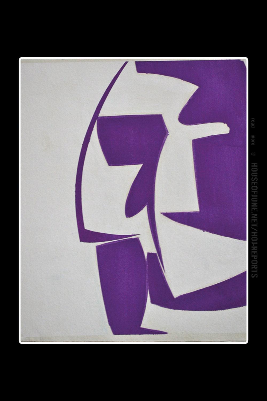 Joanne Freeman   (Gouache on Handmade Paper)  Covers 18-purple (a), 2015
