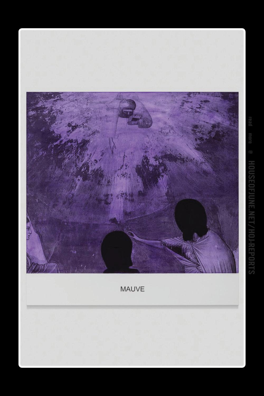 John Baldessari   (Varnished Inkjet Print on Canvas and Acrylic Paint)  the Purple Series: Mauve, 2016