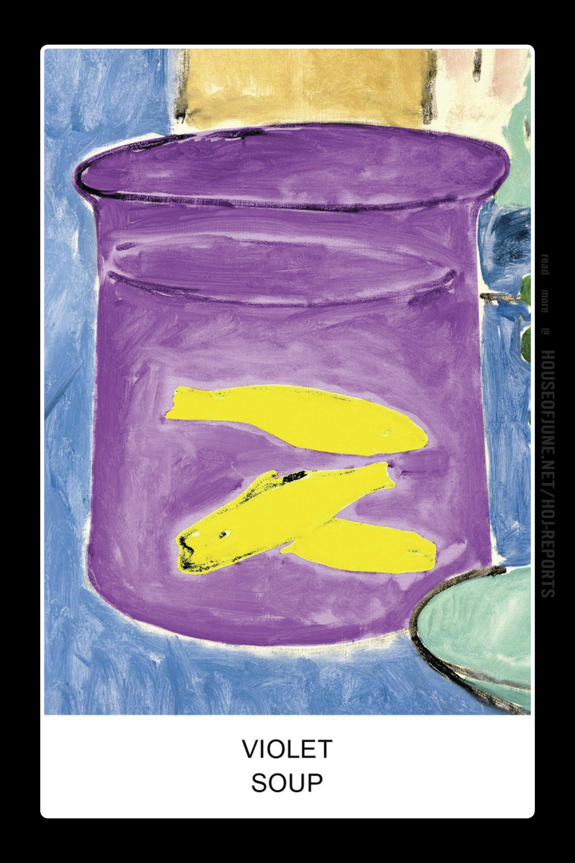John Baldessari   (Screenprint)  Eight Soups: Violet Soup, 2012