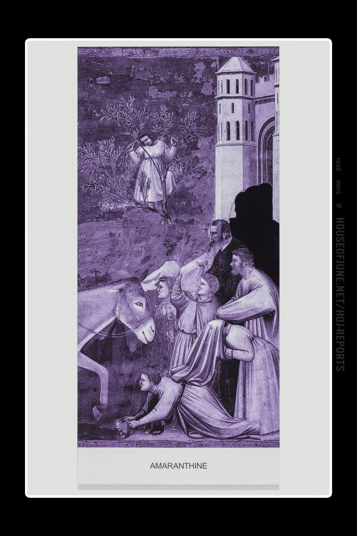 John Baldessari   (Varnished Inkjet Print on Canvas With Acrylic Paint)  the Purple Series: Amaranthine , 2016