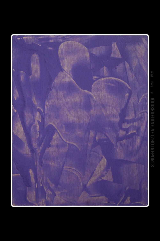 Jorge Pablo Hernandez   (Tempera Paint on Wood Block)  the Man in Violet Spiritual Colors, 2016
