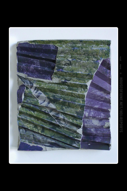 Letha Wilson   (Emulsion Transfer, Concrete)  California Concrete Ripple (Green Violet), 2017