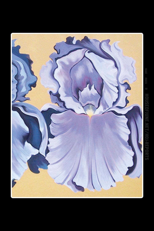 Lowell Nesbitt   (Oil on Canvas)  Two Violet Irises, 1981