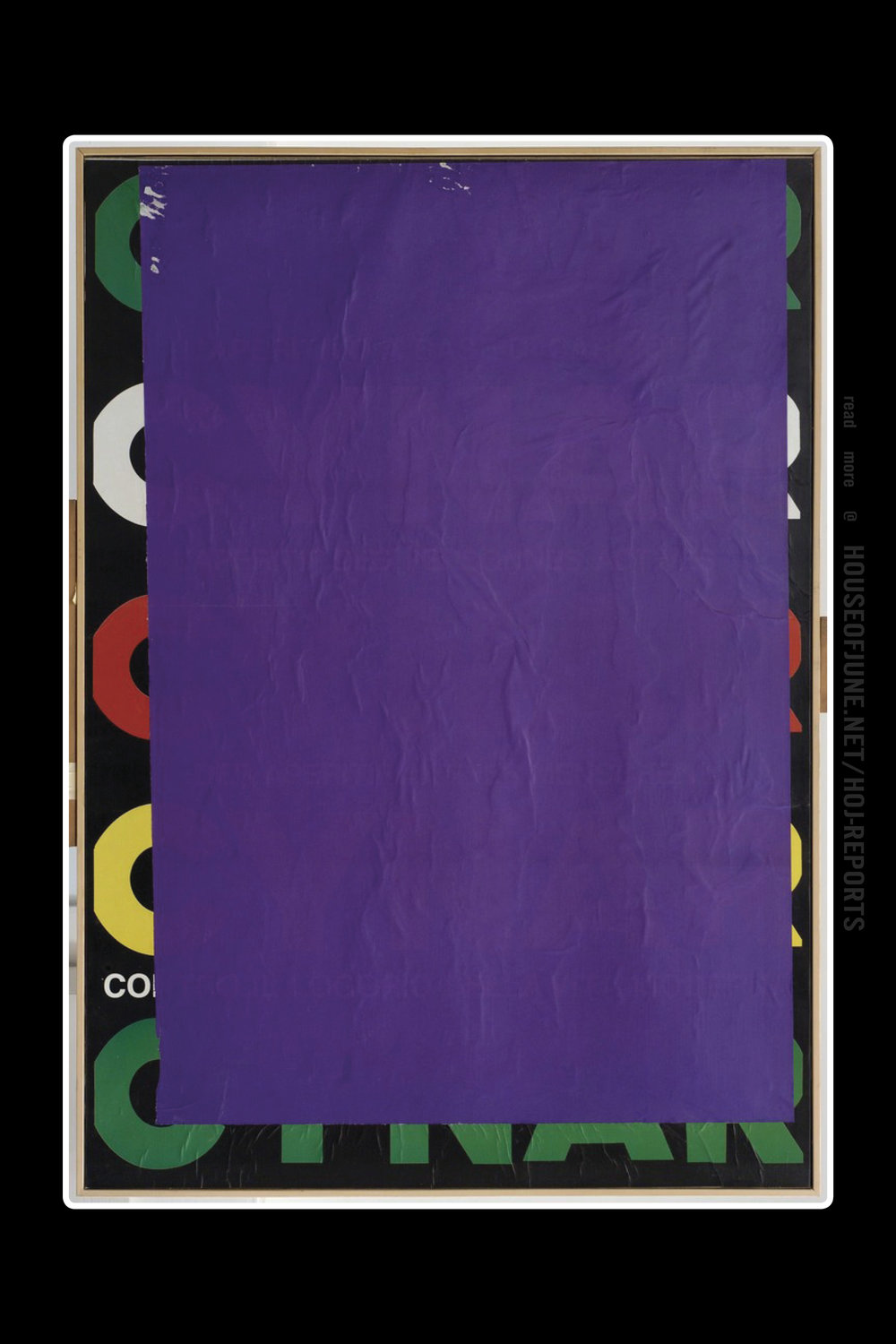 Mimmo Rotella   (Blank on Canvas)  Blank C Blue Violet, 1980
