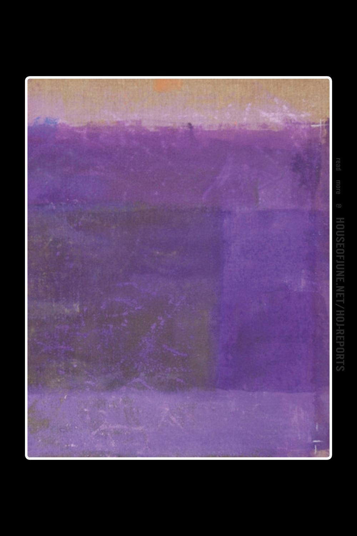 Monique Frydman   (Pigment on Canvas)  Prédelle Violet, 2012