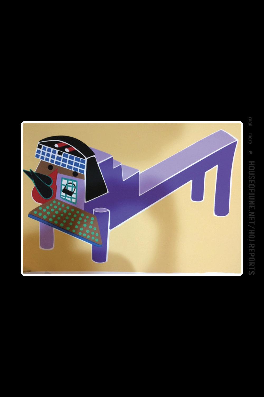 Parviz Tanavoli   (Silkscreen Lithograph)  Purple Lion, 2013