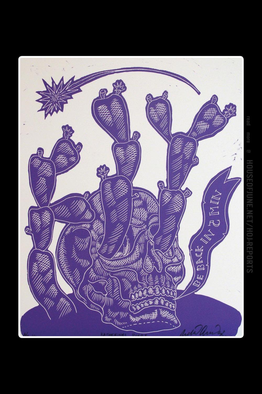 Ricky Armendariz   (Woodblock Print)  Katherine's Purple (Be Back in 5 Min.), 2017