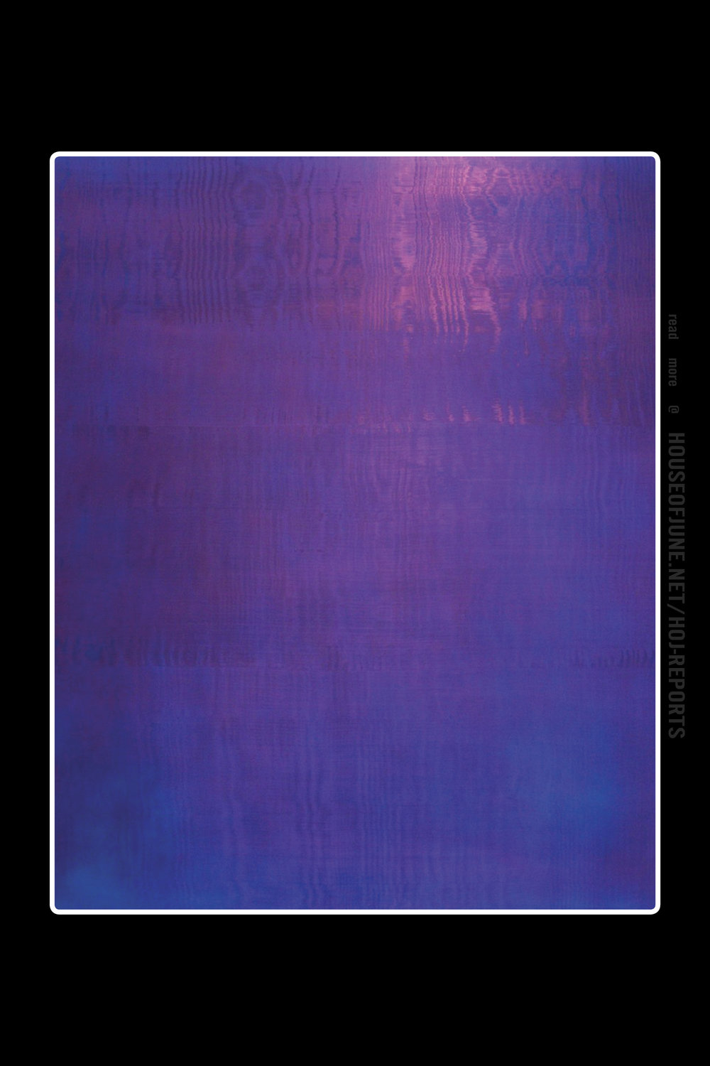 Rolf Rose   (Acrylic on Canvas)  Untitled (Violet, Shimmering), 1996