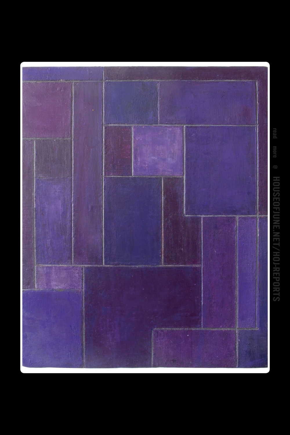 Stephen Cimini   (Oil Paint, Cold Wax Medium & Marble Dust on Gallery Wrapped Canvas)  Royal Violet Ii, 2014