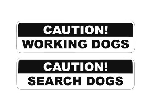 Working search dog window decal