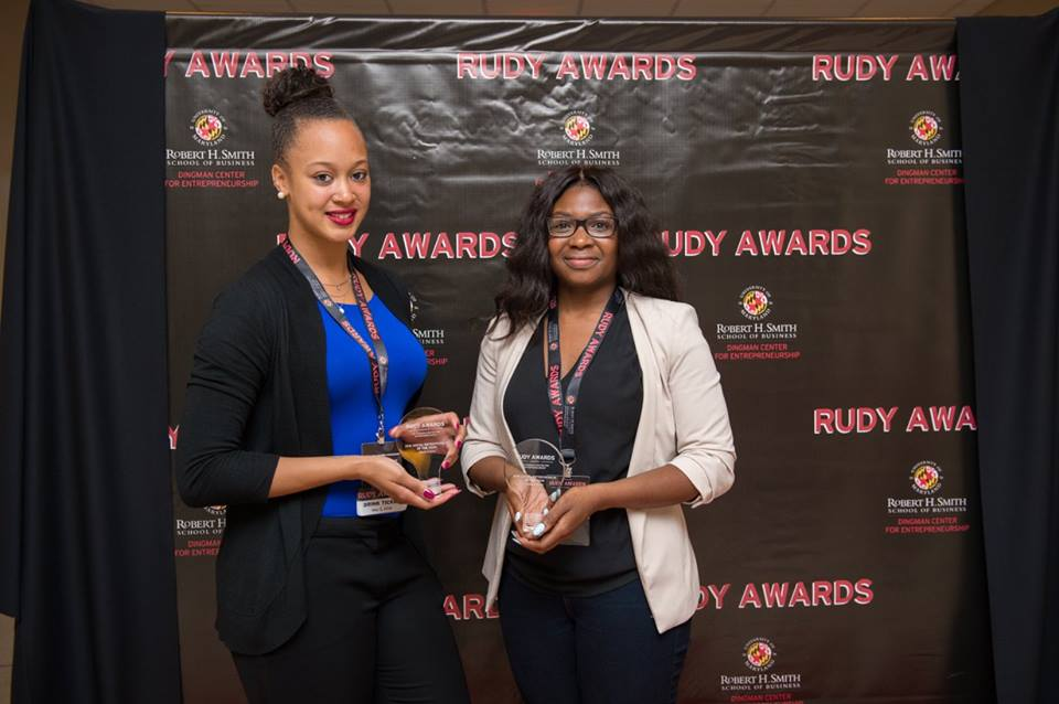 On May 5th 2016 founders Alexis Carson and Nadia Laniyan were awarded the Social Entrepreneurs of the year award at the 2016 Rudy Awards hosted by the Dingman Center for Entrepreneurship at the the Robert H. Smith School of business at the University of Maryland. Nominees for Social Entrepreneur of the Year are students or alumni who demonstrate passion for using business to address social issues, have started their own social enterprise and take advantage of the resources available at the Smith School .For more info check out http://www.rhsmith.umd.edu/news/dingman-center-namesake-presents-rudy-awards#disqus_thread