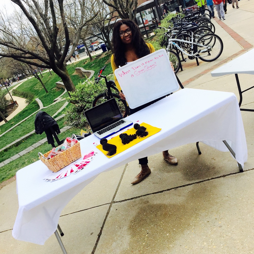 Cocoa Queens Pop up shop at the University of Maryland College Park. #AreYouAQueen