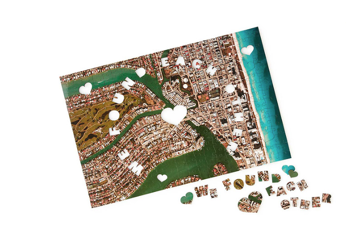 We Found Each Other Custom Puzzle  : Celebrate the little piece of the wide world where your paths met with this sweet puzzle. Your personalized puzzle displays an aerial view of your unique meeting spot covering an area of one square miles