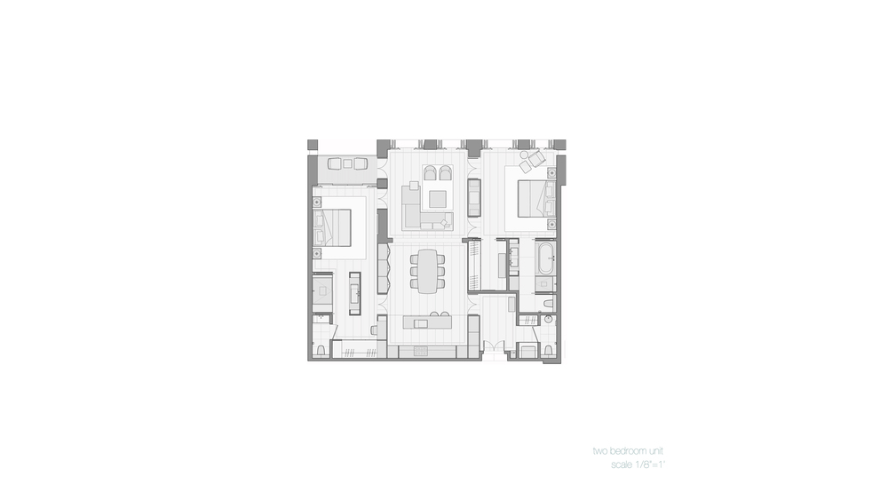Plan, 2 Bedroom Unit