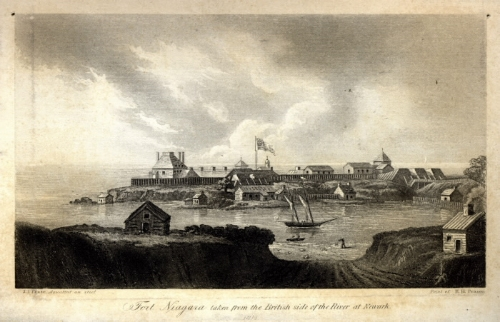 Fort Niagara as seen from the foot of king street -- location of the mccabe tannery.