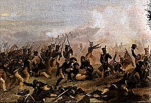 Winfield Scott's brigade attacks the guns at the top of the hill before darkness falls.