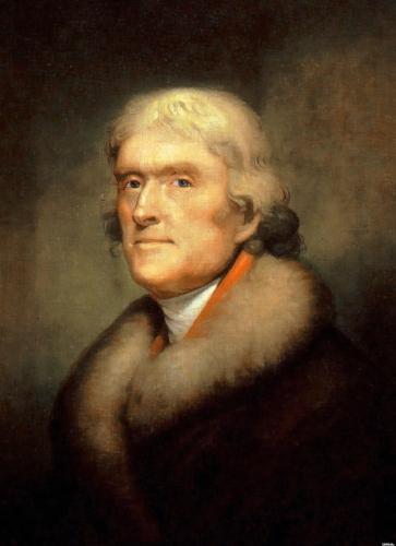Thomas Jefferson, American radical revolutionary.