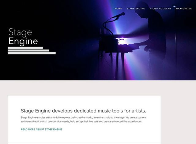 New website online. Check it: stage-engine.com