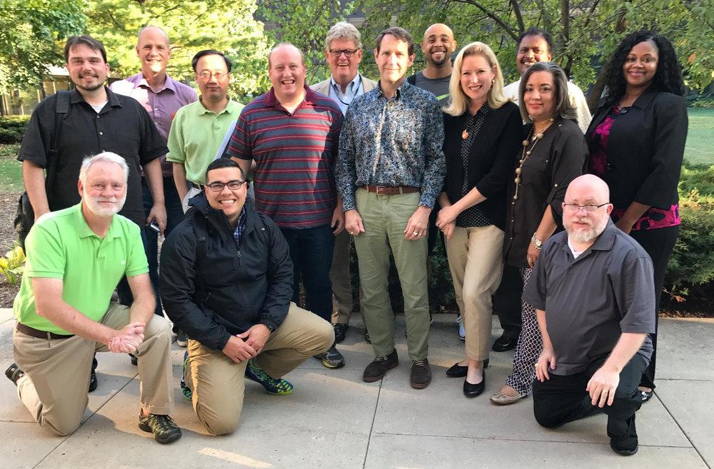 The 2017-2018 Robert Washington Scholars and their Certificate of Executive Leadership cohort at McCormick Seminary.