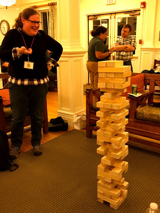 Yes, we had some Jenga pros in our midst.