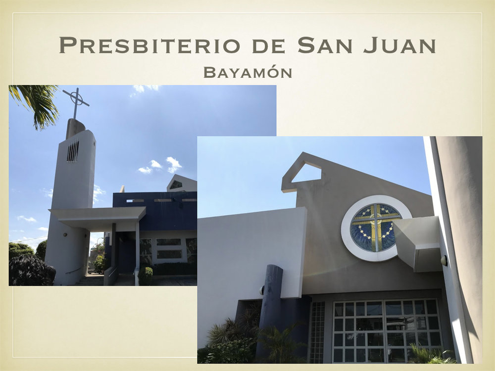 Just before lunch, Crystal, Leslie, and Margaret visited the presbyterian church in Bayamón.