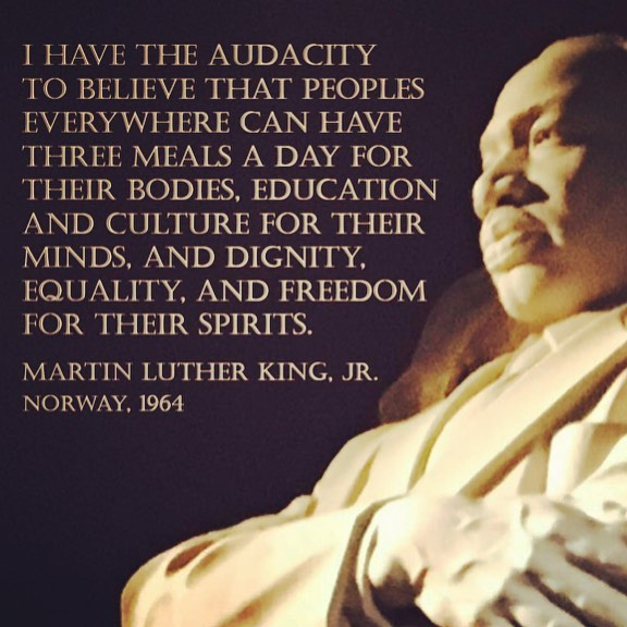 We should all have the audacity to believe... • • #mlk #webelieve #audacity #martinlutherking