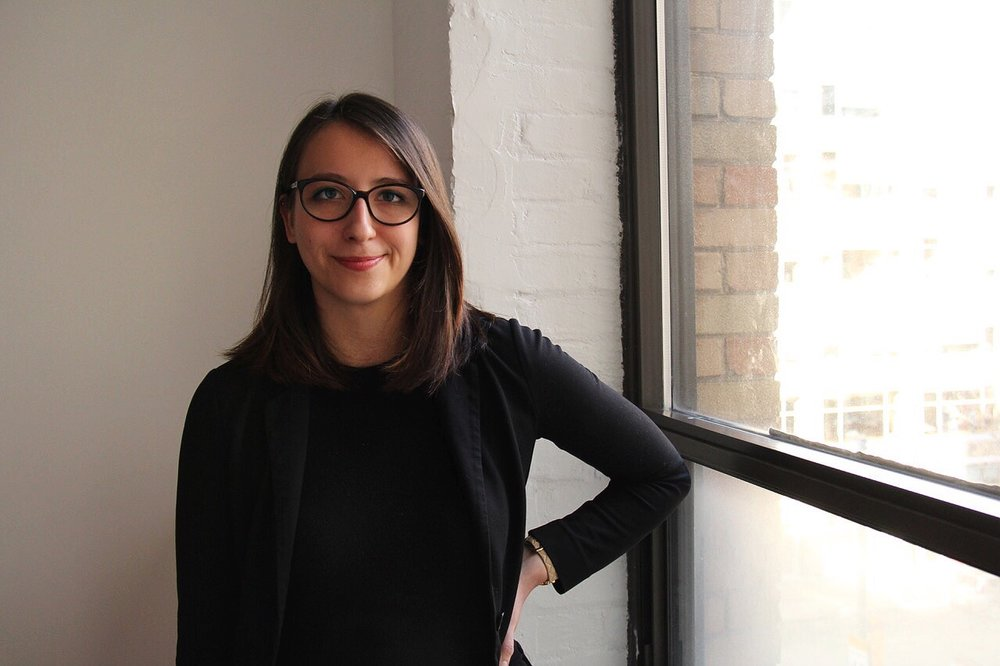 BuzzFeed News reporter Jane Lytvynenko at the BuzzFeed Canada office in Toronto, Ontario on Feb. 1, 2017.