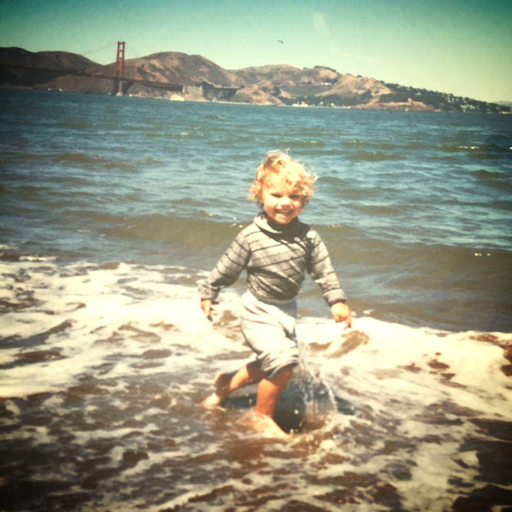 Co-founder Trevor playing at Crissy Field at age 4.