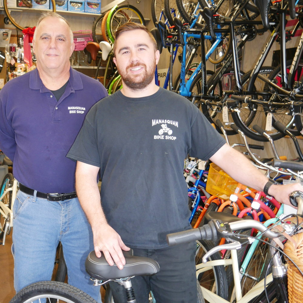 Gary & Tyler Scimeca-- Father, Son & Owners of Manasquan Bike Shop in Manasquan, NJ