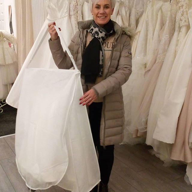 The gorgeous Viven collecting her Wedding dress last night!! She looked stunning in her dress, it was absolutely perfect!! Can't wait to see pics of her on the big day!