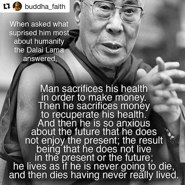 """Too good not to share as we start our work week. Let's change how we think about abundance and """"the grind"""", and start living purposefully! ✨💖✨ #Repost @buddha_faith ・・・ #spiritual #buddhist #Higherself #consciousliving #mindful #buddhaquotes #innerpeace #buddhism #lifecoach #yogi #yoga #bossbabe #entrepreneur #entrepreneurlife"""
