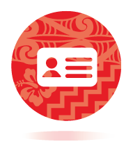 Red icon of a licence to represent Restricted Licence