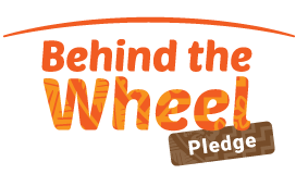 The Behind the Wheel Pledge Logo