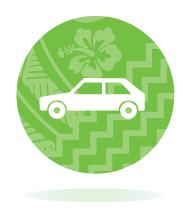 Green icon of a car to represent Full Licence