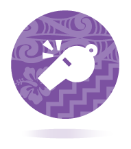 Icon of a whistle to represent the coach team member