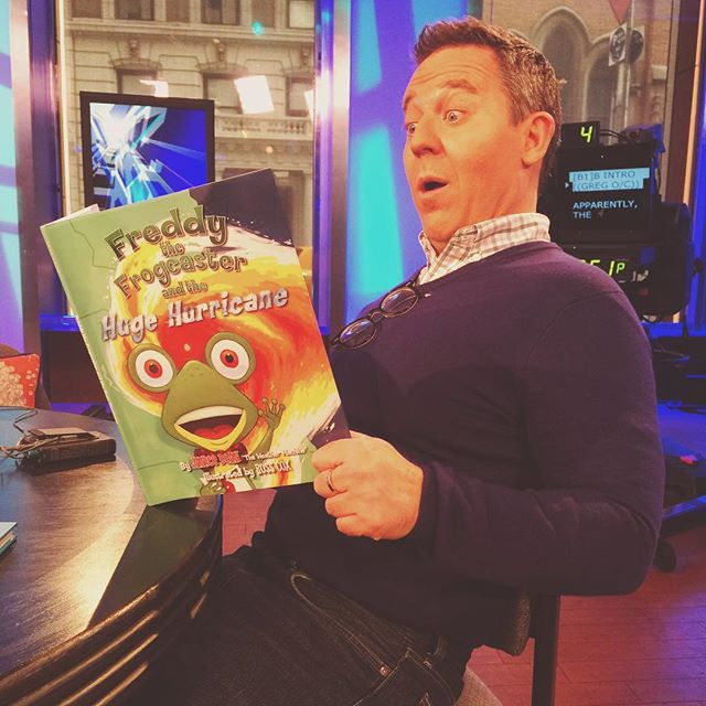 #tbt to when my friend @greggutfeldshow was blown away learning about hurricanes! 🐸