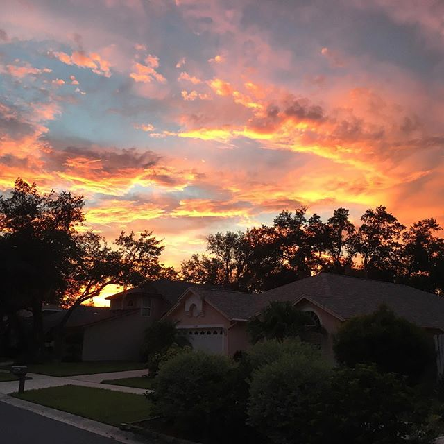 A picture perfect sunset. #WindowWatch