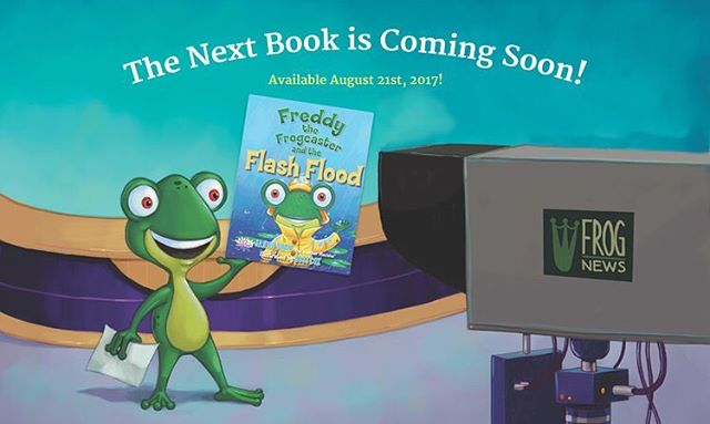 Hop on over to our website to learn more about our next book! 🐸☔️