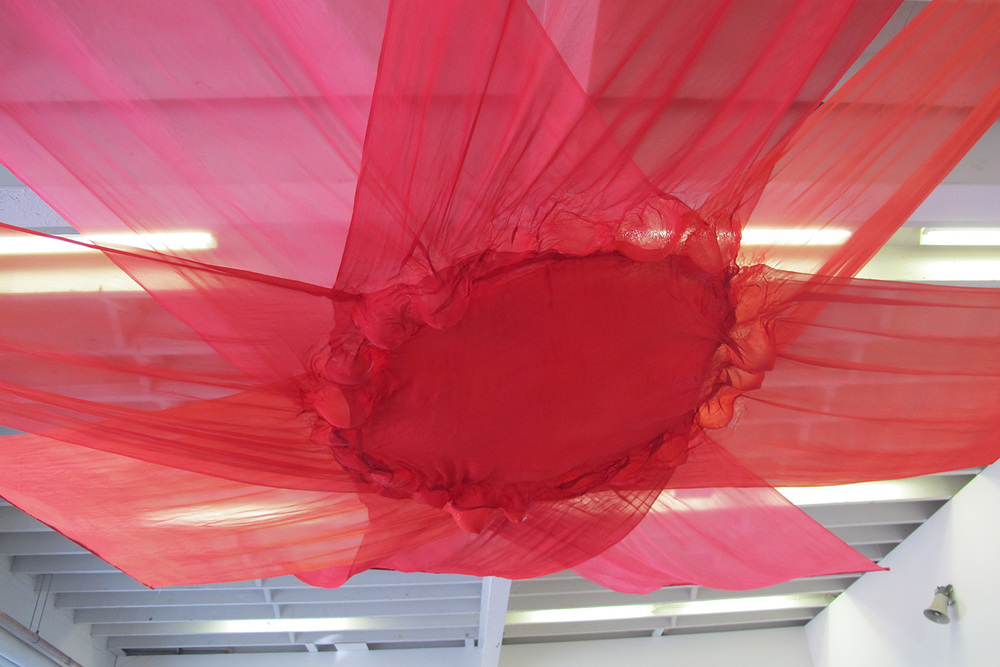 Joy,  2015, hand dyed silk georgette and rice paper glue,300cm x 300cm