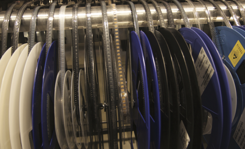 Every type of resistor and capacitor is available on reels. This methodology allows NK to match production to market demand without retooling their line.