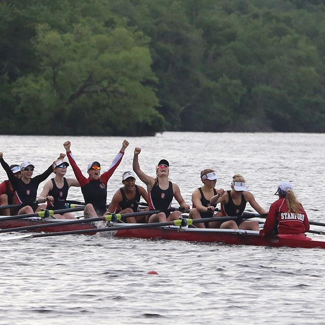 Finish line celebrations are so sweet. Congrats to the IRA V8+ Champs! @stanfordwcrew @columbia_lightweight_rowing @yalecrew #coxing #coxswains #rowing #irachamps