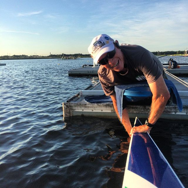 "Best way to start a race? Give a #shoutout to your stakeboat holder! ""You're amazing"" is a good one! #coxing #coxearlycoxoften #rowing #fisa #usrowing #WRMasters #sarasota2018"