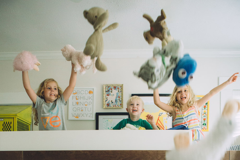 August 15: How to kick off a photo session with your favorite triplets.