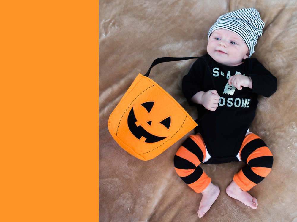 October 30: Scary handsome. First Halloween.