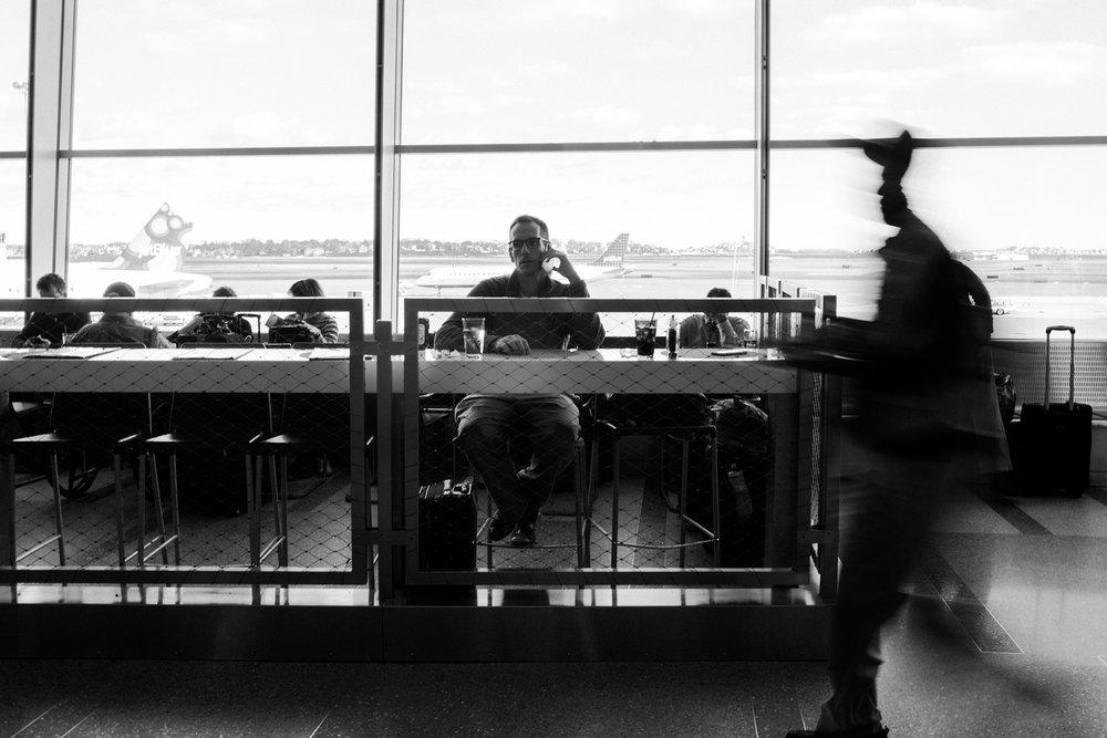 December 1: Airport phone calls, Boston Logan edition.