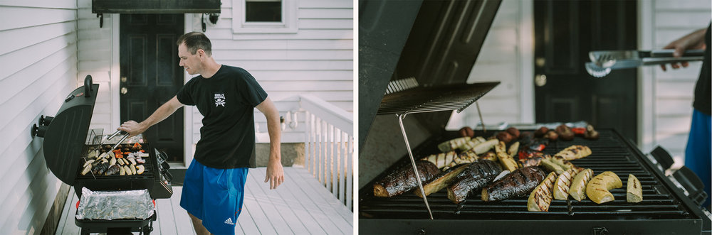 August 8: Our grill got so much play over the summer, and we ate like kings.