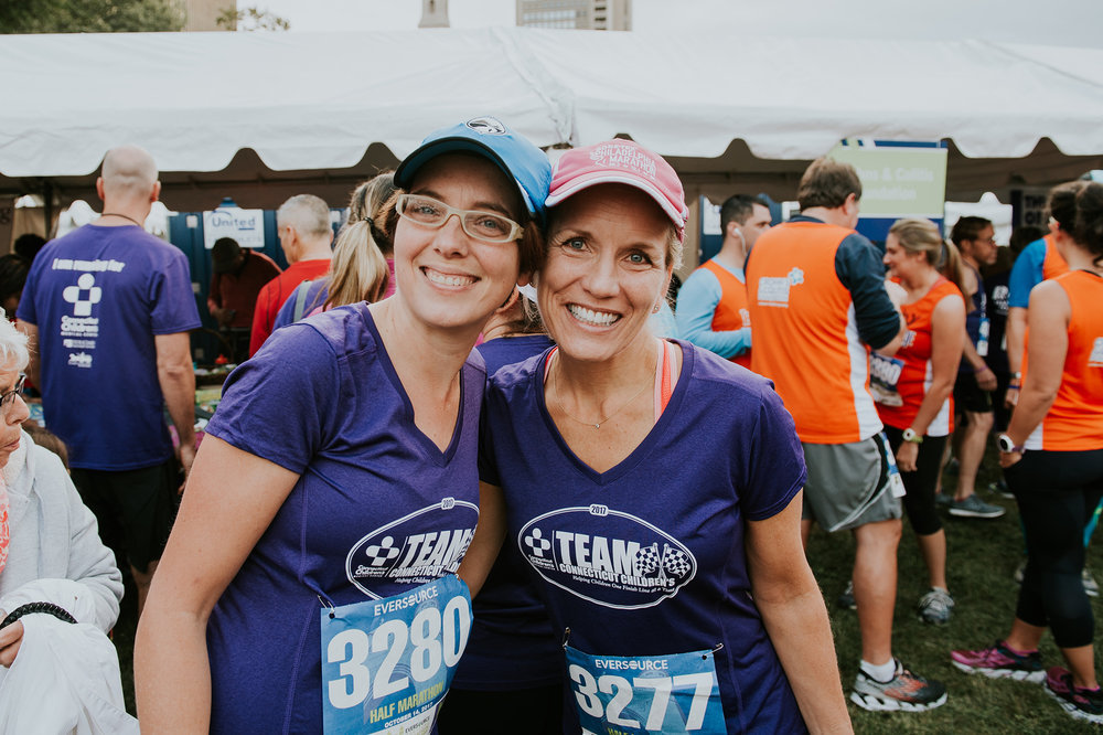 October 14: My first interview at Connecticut Children's included a conversation with my would-be boss about running. Not only is she an incredible boss and leader, she pounds the pavement with the same kind of drive as I do. We both got to run the half for the Connecticut Children's team this year.
